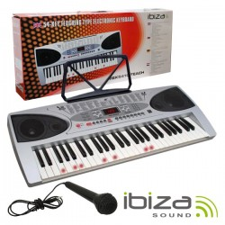 Orgão Teclado Musical 54 Teclas Aprendizagem Mic Ibiza
