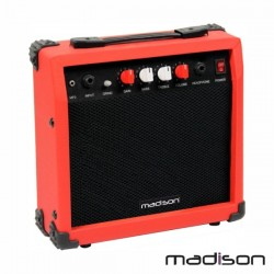 "Amplificador p/ Guitarra + Coluna 6.5"" Aux/Mp3 20W Madison"