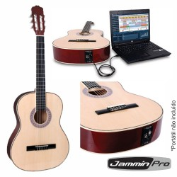 Guitarra Clássica c/ Interface Usb Madeira Jamminpro