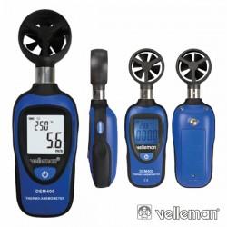 Mini Termómetro Anemómetro Digital Velleman