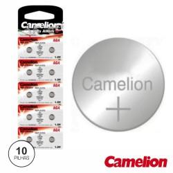 Pilha Botão Alcalina Ag4 / Lr626 1.5V 10X Blister Camelion
