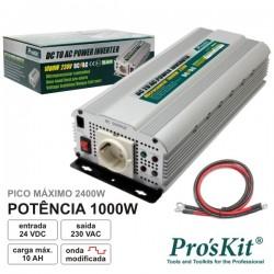 Conversor 24V-230V 1000W Onda Sinusoidal Modificada Pro'sKit