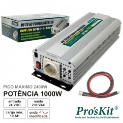 Conversor 24V-230V 1000W Onda Sinusoidal Modificada Proskit