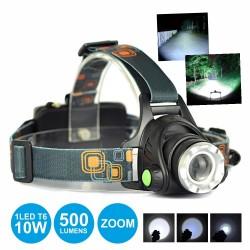 Lanterna de Cabeça 1 Super Led T6 10W 500Lm Zoom