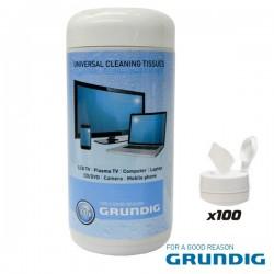 Caixa 100 Toalhetes Humidos p/ Limpeza de Ecrans Grundig