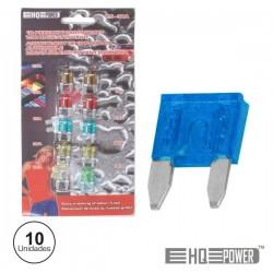 Conjunto de 10 Mini-Fusíveis p/ Automóvel 7.5-30A
