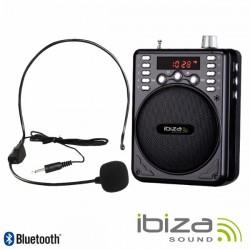 Coluna Amplificada 30W Usb/Bt/Fm/Sd/Bat Preta Ibiza