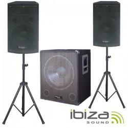 Conjunto Som Bi-Amplificado 2000Wmáx Ibiza