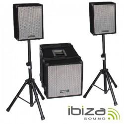 Conjunto Som Bi-Amplificado Usb/Sd/Comando 1400Wmáx Ibiza