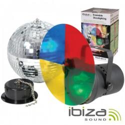 Bola de Espelhos 20cm c/ Motor E Projector Par36 Ibiza