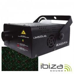 Máquina de Fumos 500W c/ Laser Verde/Vermelho 130Mw Ibiza