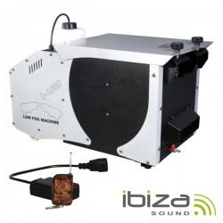 Máquina de Fumo Baixo 1500W c/ 2 Comandos Ibiza