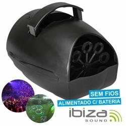 Máquina de Bolhas Portátil S/ Fios Bateria Ibiza