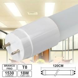 Lâmpada LED Tubular T8 18W 120cm Branco Frio 1530Lm