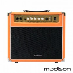 "Amplificador p/ Guitarra + Coluna 8"" Aux/Mp3 40W Madison"