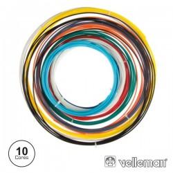 Filamentos p/ Impressão 3D 10 Cores