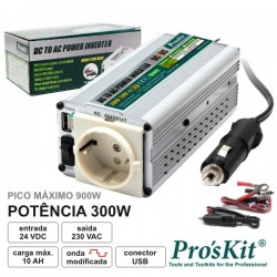 Conversor 24V-230V 300W Onda Sinusoidal Modificada Pro'sKit