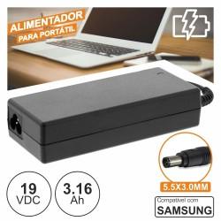 Alimentador p/ Samsung 19V 3.16A 60W 5.5X3.0mm
