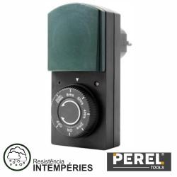 Temporizador Analógico Exterior c/ Fotosensor 24H Perel