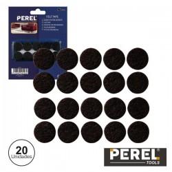 Autocolantes Feltro Redondos 20mm 20X Perel
