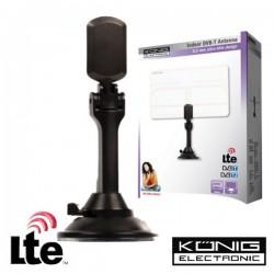 Antena Tdt Interior Amplificada Slim 25Db Lte Konig