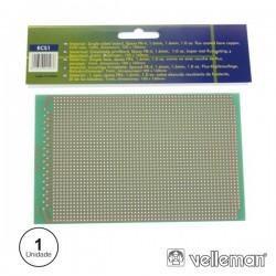 Placa Circuito Impresso Perfurada Em Pontos 100X160mm