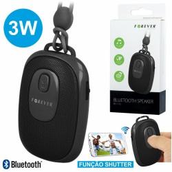 Coluna Bluetooth Portátil 3W c/ Obturador p/ Câmara