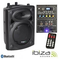 """Coluna Bi-Amplificada 8"""" 300Wmáx Usb/Bt Ibiza"""