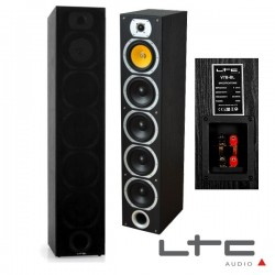 Conjunto 2 Colunas 4 Vias Home Theater Bass Reflex 440W Ltc