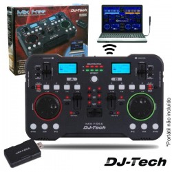 Controlador Dj c/Display S/Fios Duplo - Dj-Tech