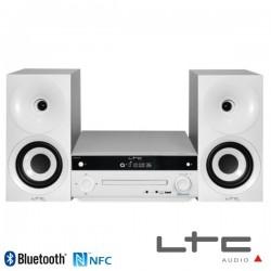 Sistema HI-FI 2.1 C/ Rádio Am/Fm 2 Colunas Usb/Cd/Bt/Nfc Branco 2X20W Ltc