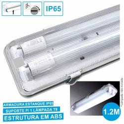 Armadura Estanque 1.2M p/ 2 Lâmpadas Led Tubular T8