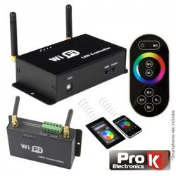 Controlador p/ Fita LEDs Rgb 12V/24V c/Comando Wifi Prok