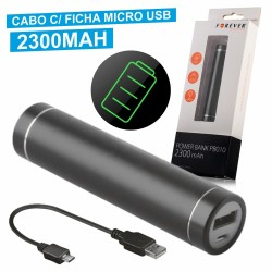 Power Bank 2300Ma c/ Ficha Micro Usb Preto