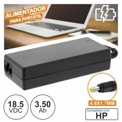 Alimentador 18.5V 3.50A 65W 4.8X1.7mm p/ Hp