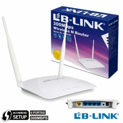 Router Wifi 2 Antenas 802.11B/G/N 300Mbps 4 Port Wps Lb-Link