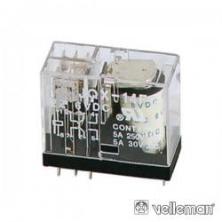 Relé Vertical 5A/30Vdc-220Vac 2 Xinversores 12Vdc
