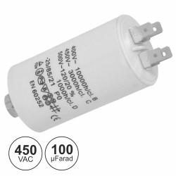 Condensador Arranque 100Uf 450V + Terra