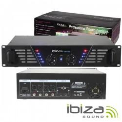 """Amplificador Áudio 19"""" 2X480W Preto Ibiza"""