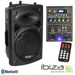 """Coluna Bi-Amplificada 10"""" 400Wmáx Usb/Bt Ibiza"""