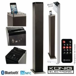Coluna Centro Amplificada Fm Mp4 Bluetooth Nfc Rca