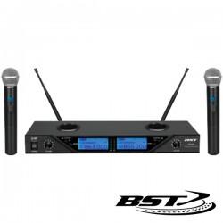 Central Microfone S/Fios 2 Canais Uhf 16 Freq Cee Bst