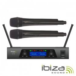 Central Microfone S/Fios 2 Canais Uhf 460~970Mhz Ibiza