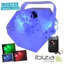 Máquina de Bolhas 25W c/ Iluminação Rgb E Comando Ibiza