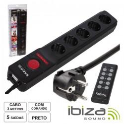 Tomada Eléctrica c/ 5 Saídas Comando 3M Ibiza