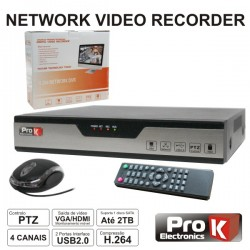 Vídeo-Gravador Digital Ip 4 Canais H264 Ethernet Prok