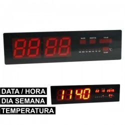 Relógio de Parede c/Termómetro E Data A Leds