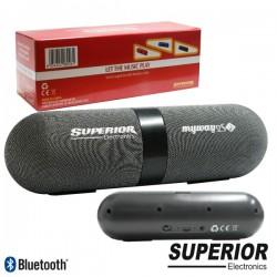 Coluna Bluetooth Portátil 2X3W Aux