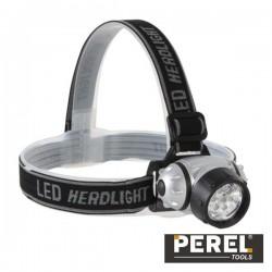 Lanterna de Cabeça 7 Leds Brancos Ultraluminosos Perel