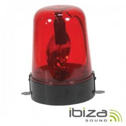 Pirilampo Lâmpada E14 Rotativo 360º Vermelho 230V 15W Ibiza